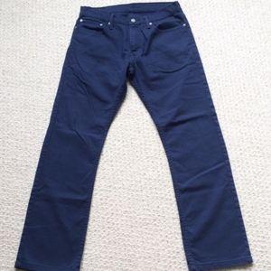 Levi's navy blue chino twill pants